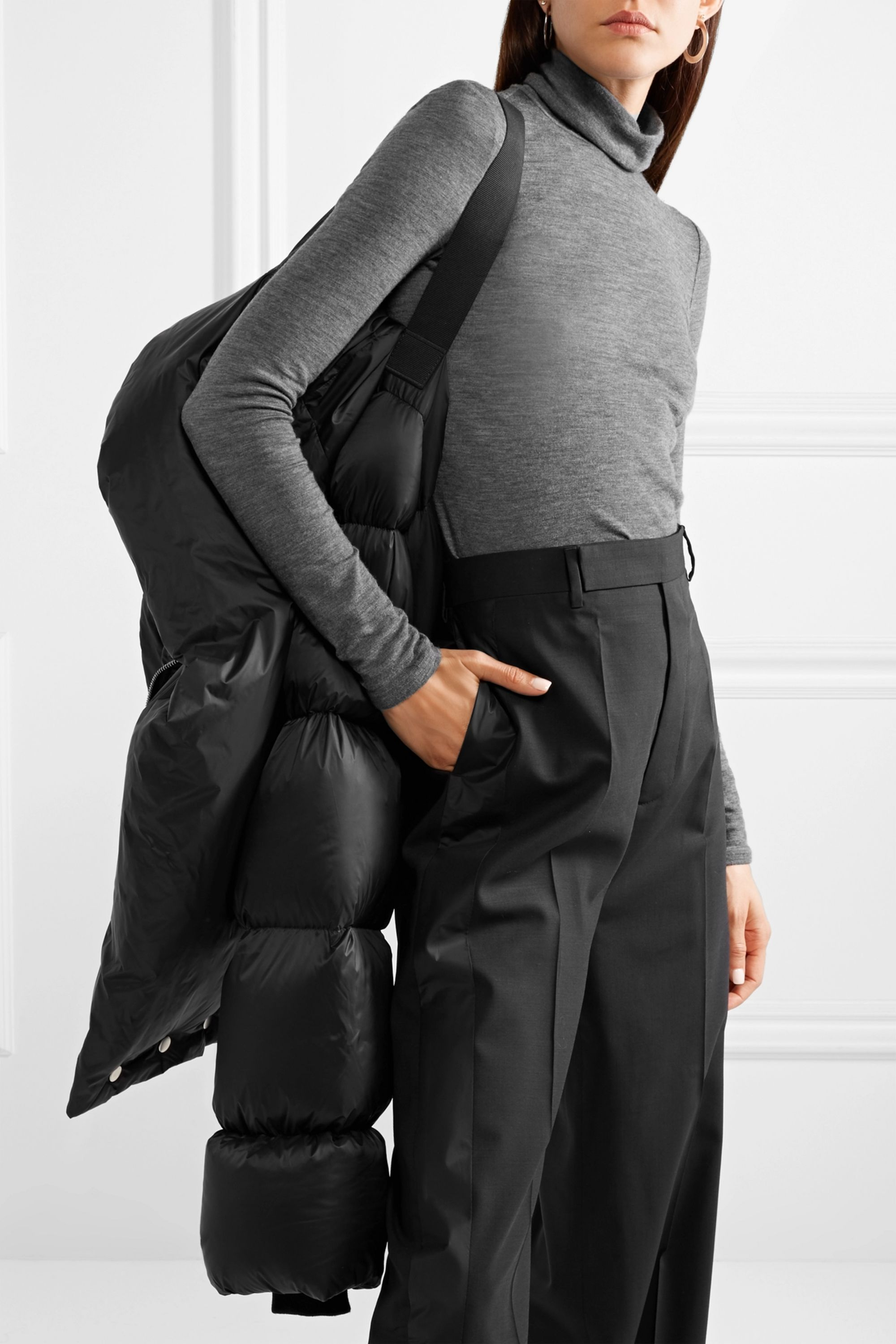 Rick Owens Quilted shell down jacket