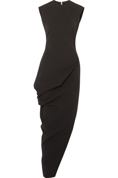 Walrus Asymmetric Cotton Blend Crepe Maxi Dress by Rick Owens