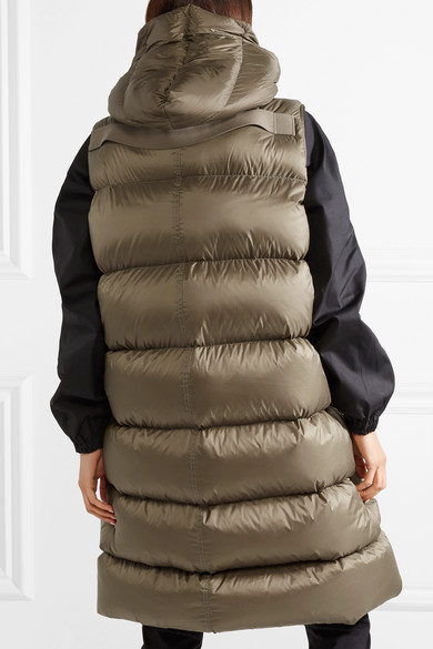 Rick Owens Jackets Oversized hooded quilted shell down vest