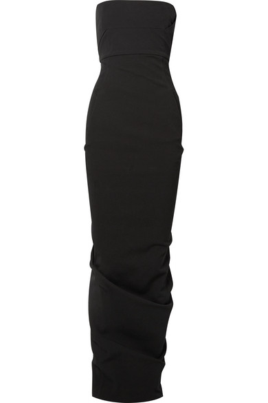 Draped Cotton Blend Crepe Gown by Rick Owens