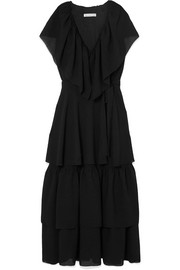 REJINA PYO Renata tiered crinkled-crepe midi dress