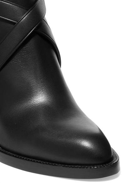 Burberry   Ankle kariertem Boots aus Leder und kariertem Ankle Canvas d8f930