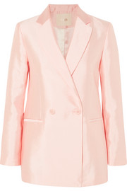 Vasila double-breasted satin blazer