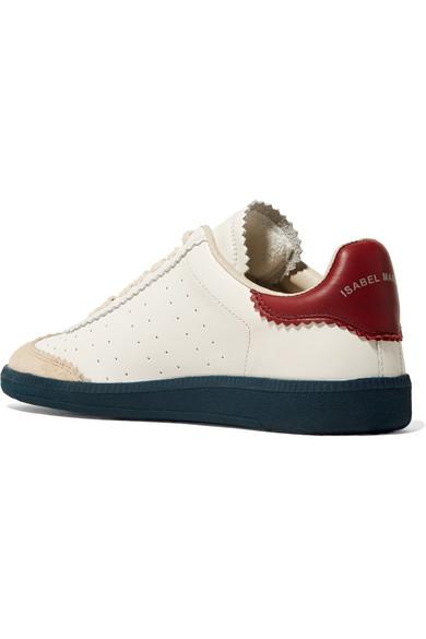 Isabel Marant | Bryce und Sneakers aus Leder mit Velourslederbesatz und Bryce Logo-Print 7e1098