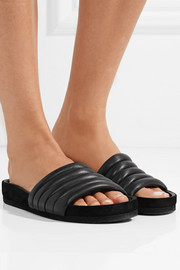 Isabel Marant Hellea quilted leather slides