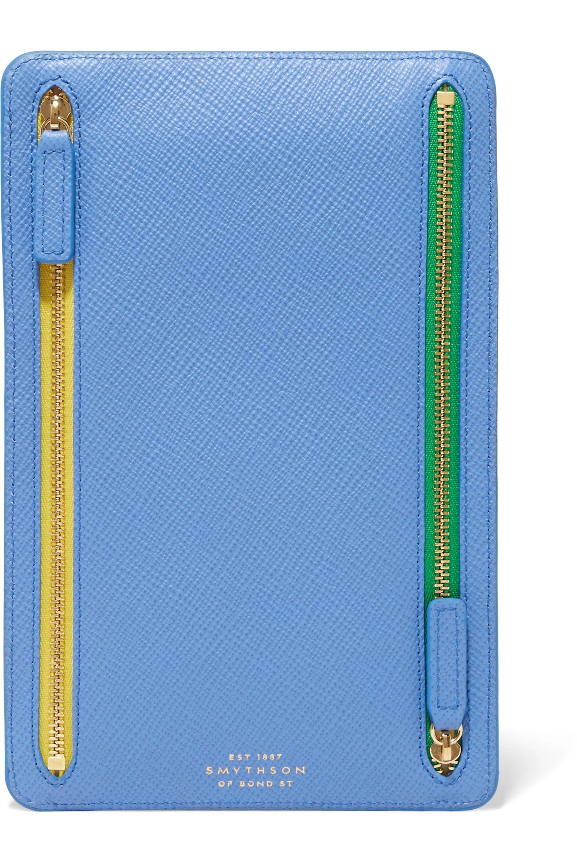Smythson Panama textured-leather wallet