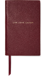 Panama Live, Love, Laugh textured-leather notebook