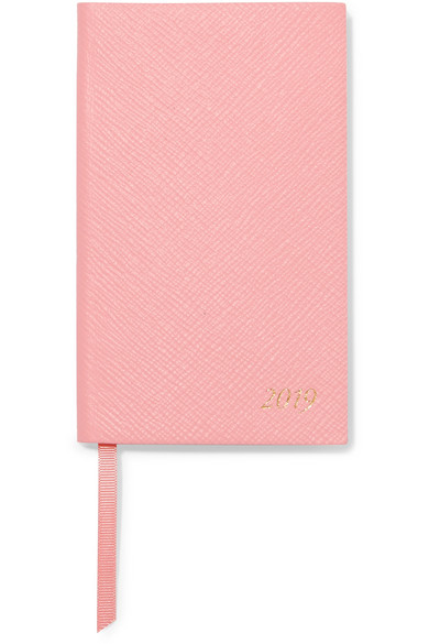 Panama 2019 Textured-Leather Diary, Pink