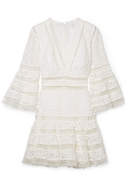 Zimmermann Lovelorn broderie anglaise cotton mini dress