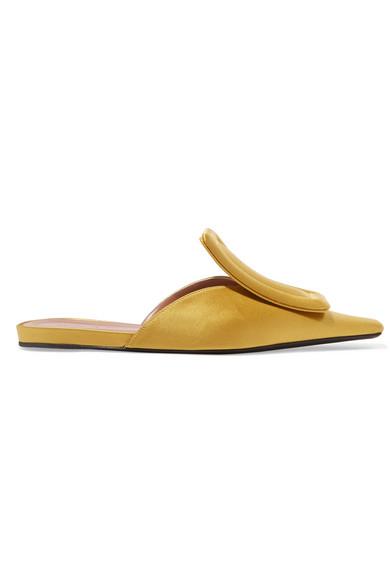 Satin Slippers, Mustard