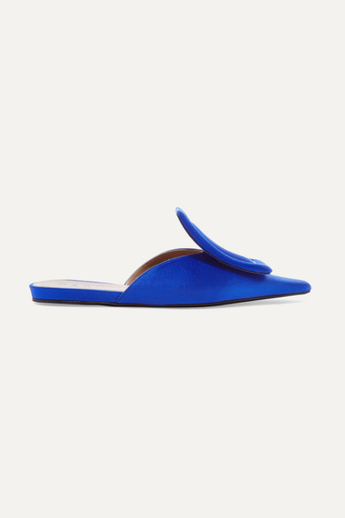 Marni - Satin Slippers - Blue