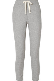 Edie ribbed cotton-blend jersey track pants