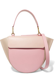 Hortensia medium color-block leather shoulder bag
