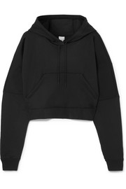 Nike NikeLab cropped cotton-blend jersey hooded top