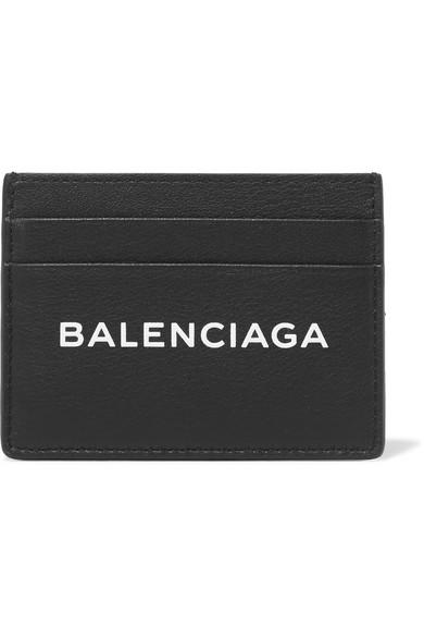 Balenciaga Everyday bedrucktes Kartenetui aus strukturiertem Leder