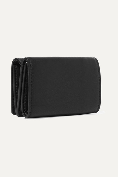 Balenciaga Bedrucktes Portemonnaie aus strukturiertem Leder