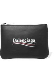 Balenciaga Printed leather pouch
