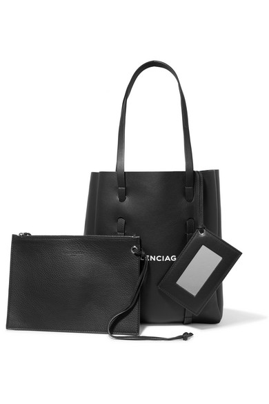 Balenciaga Xs Printed Tote Made Of Textured Leather