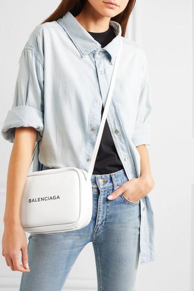 Balenciaga Printed Camera Bag Made Of Textured Leather