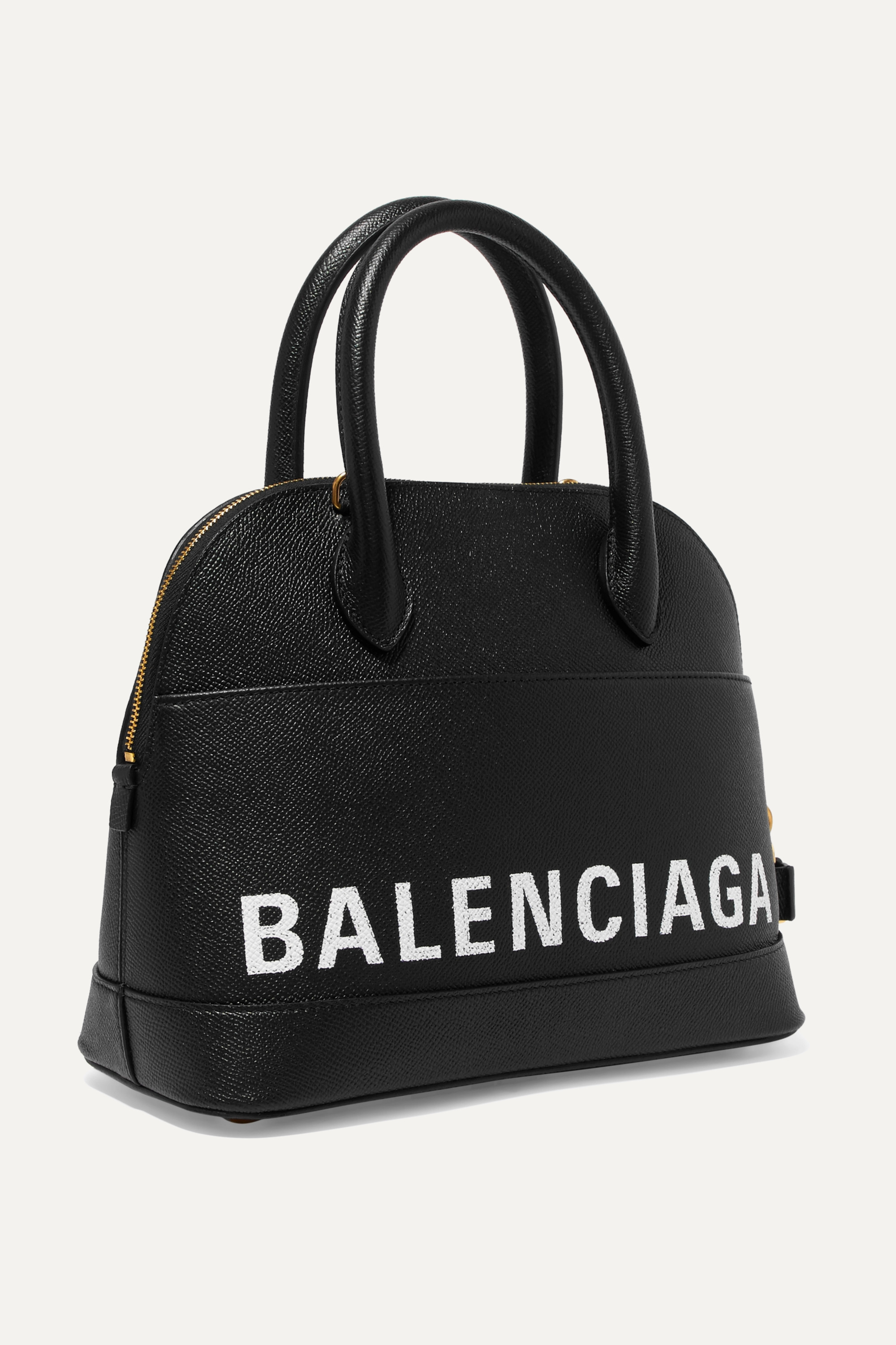 Balenciaga Ville small printed leather tote