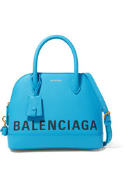 Balenciaga Ville small printed textured-leather tote