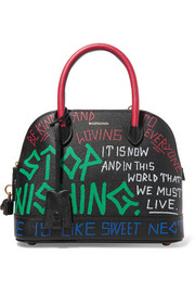 Ville Graffiti small printed textured-leather tote