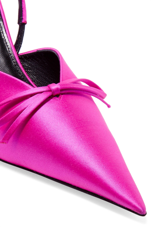Balenciaga Knife Slingback-Pumps aus Satin