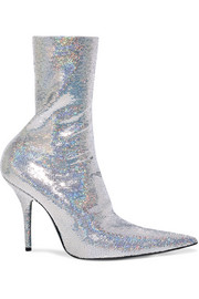 Knife sequined spandex sock boots