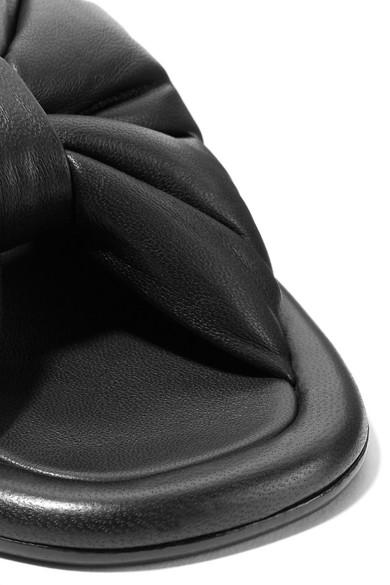 Balenciaga Leder   Pantoletten aus gerafftem Leder Balenciaga 973986