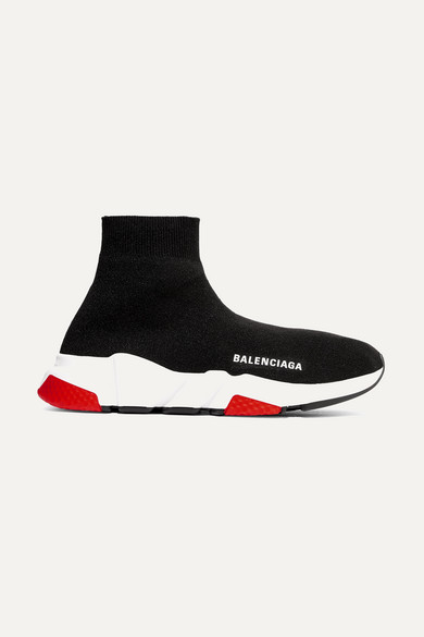 Balenciaga Low-Top Sneakers Speed Runner  Polyester Polyurethane Logo Black