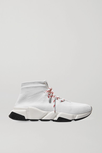 SPEED STRETCH-KNIT HIGH-TOP SNEAKERS