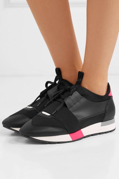 Balenciaga   Race Mesh Runner Sneakers aus Leder, Mesh Race und Neopren 88d958