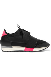 Balenciaga Race Runner leather, mesh and neoprene sneakers