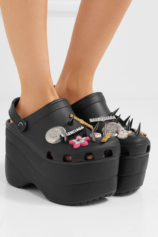 Crocs embellished rubber platform