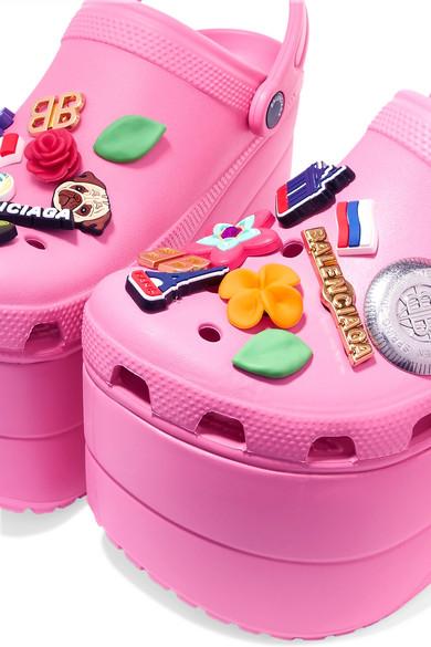 235b2593e282e8 Balenciaga. + Crocs embellished rubber platform sandals.  1