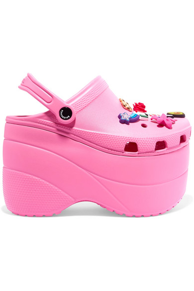 d1e7bd6b863 Balenciaga. + Crocs embellished rubber platform sandals
