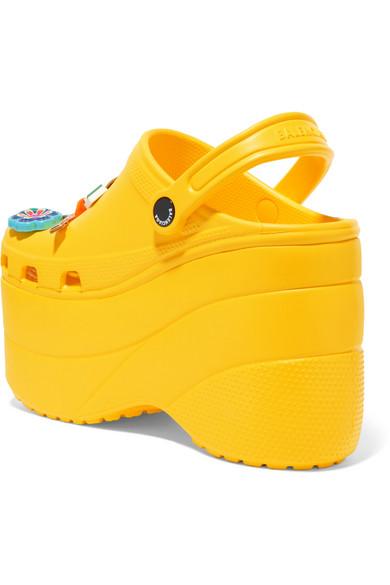 22da3204f910c7 Balenciaga. + Crocs embellished rubber platform sandals.  850. Play