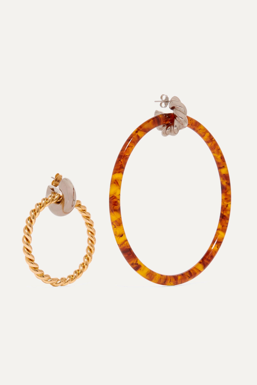 Balenciaga Resin, gold and silver-tone earrings