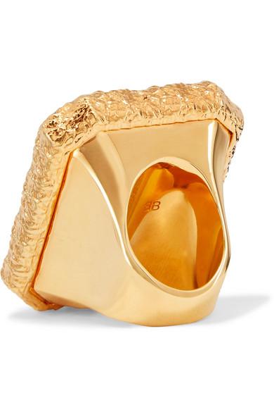 Gold-tone Resin Ring - 52 Balenciaga Zx93EOoaah