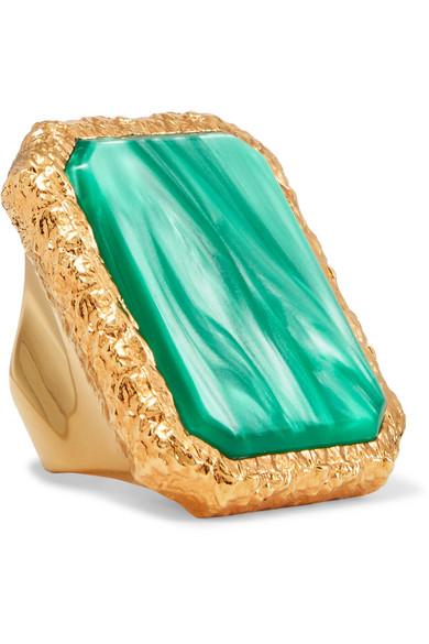 GOLD-TONE RESIN RING