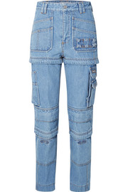 Balenciaga Convertible high-rise straight-leg jeans