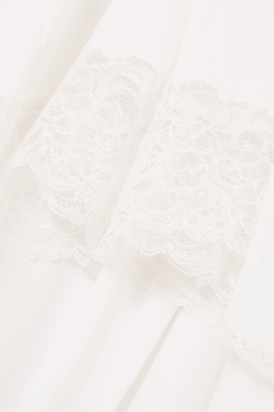 Balenciaga Lingerie asymmetrischer Rock aus Jersey mit Spitzenbesatz