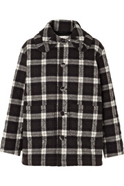 Balenciaga Scooter quilted checked cotton-flannel jacket