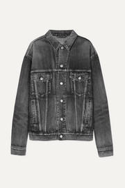 Like A Man oversized embossed denim jacket