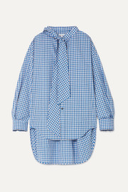 New Swing checked cotton-poplin shirt
