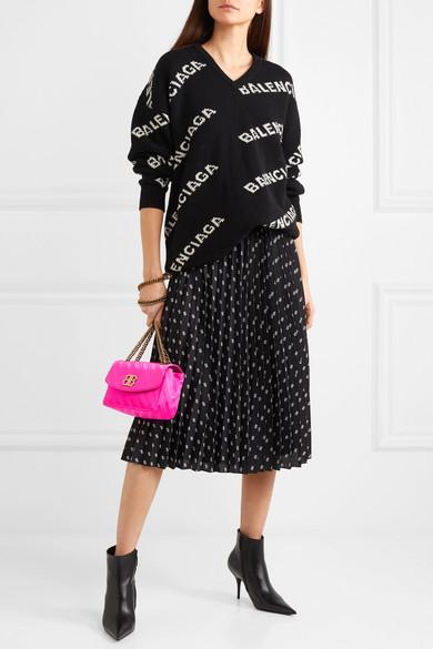 Balenciaga Pullover aus einer Wollmischung mit Intarsienmuster