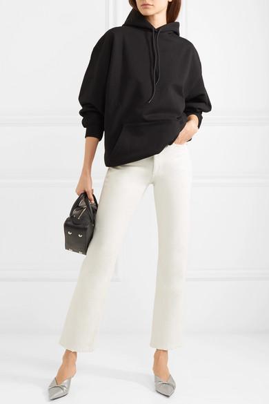 Balenciaga Bedrucktes Oversized-Kapuzenoberteil aus Baumwoll-Jersey
