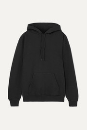 Appliquéd cotton-blend hooded sweatshirt
