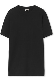 Appliqued cotton-jersey T-shirt