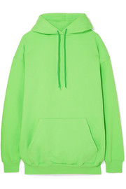 Balenciaga Oversized cotton-blend jersey hooded top